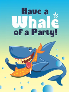 Have a whale of a party