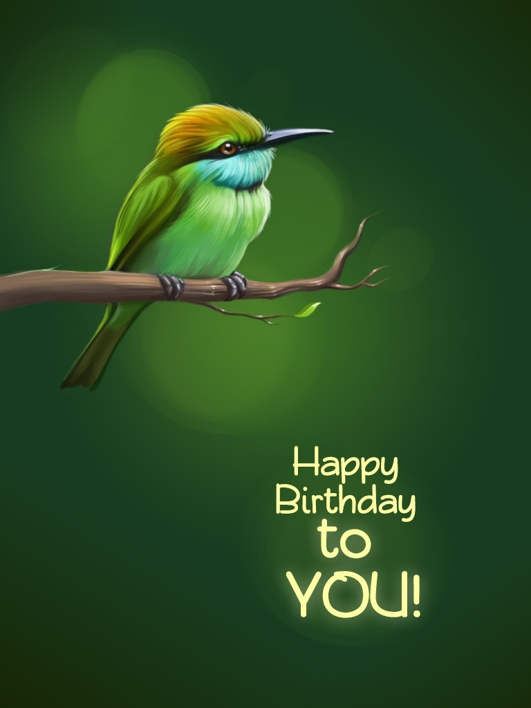 Bee-Eater with Wishes