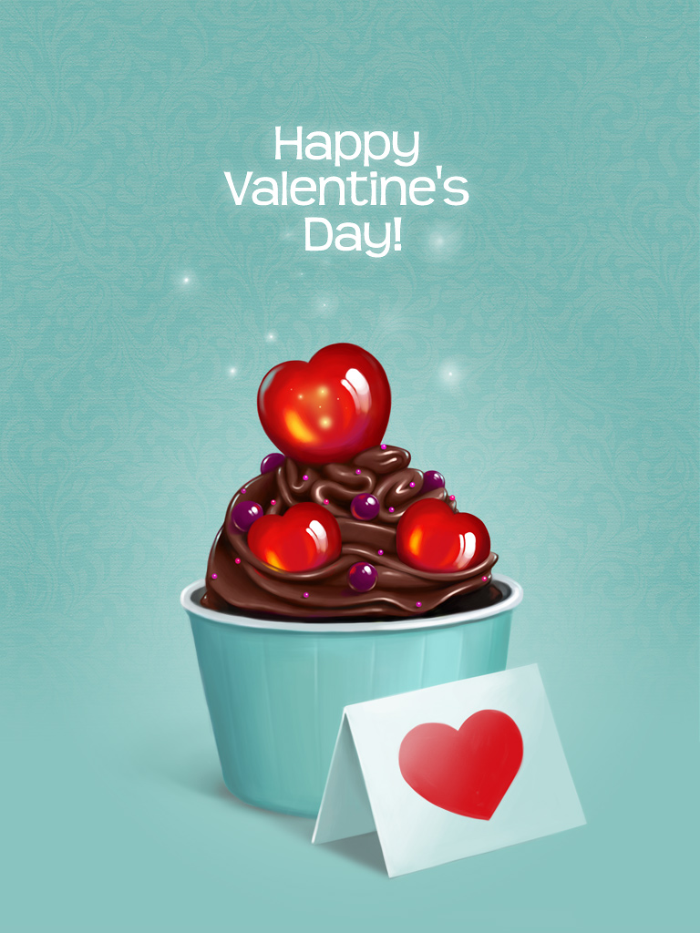 Chocolate Heart Swirl