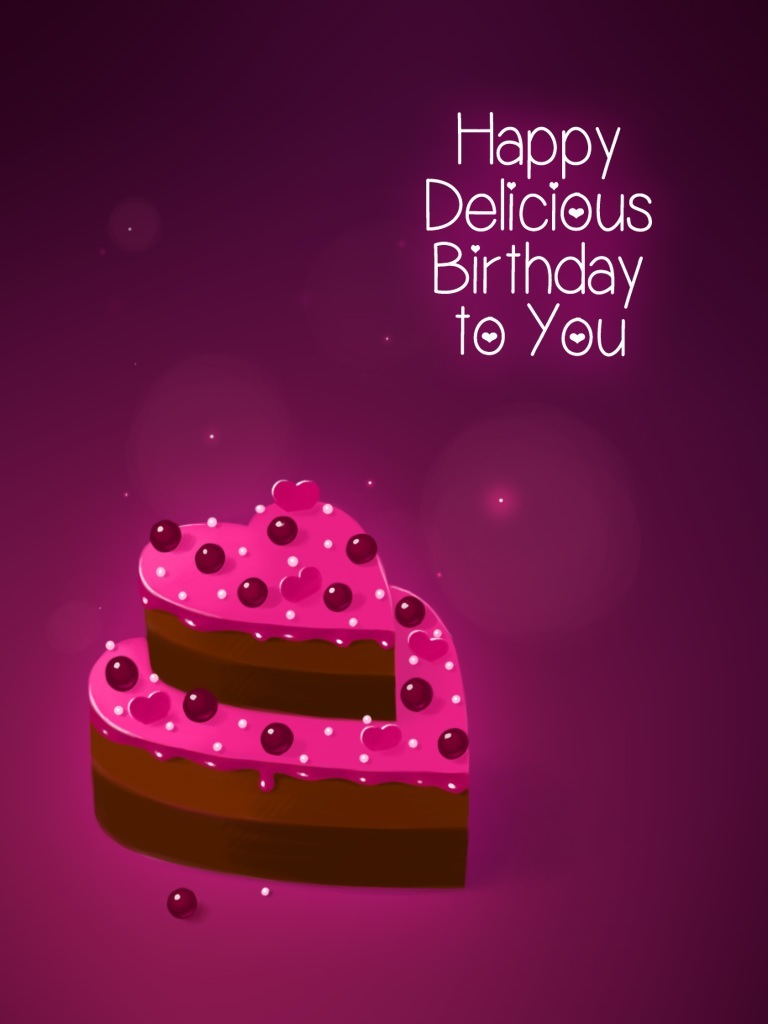 Heart-Shaped Birthday Cake