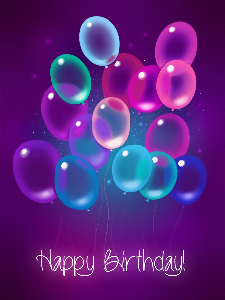 Purple Transparent Balloons