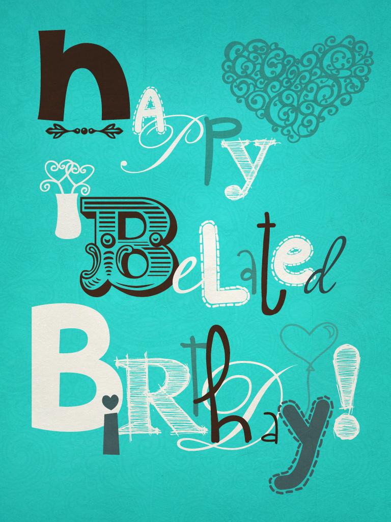 Happy belated bday