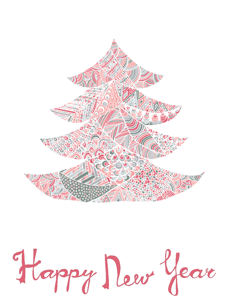 Christmas tree with patterns