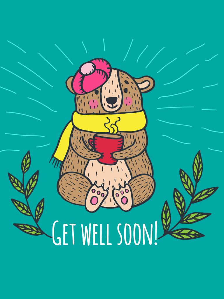 Comfort bear card