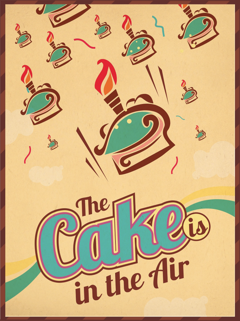 The cake is in the air
