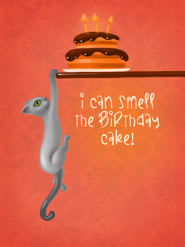 This Kitty Smells Cake